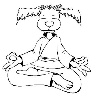 Mindful K9 zen dog logo
