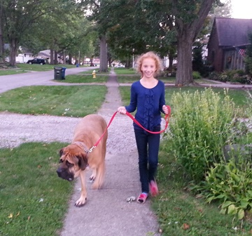 Maria Manti Lindenmeier & Bruno, Mindful K9 clients from Avon Lake Ohio